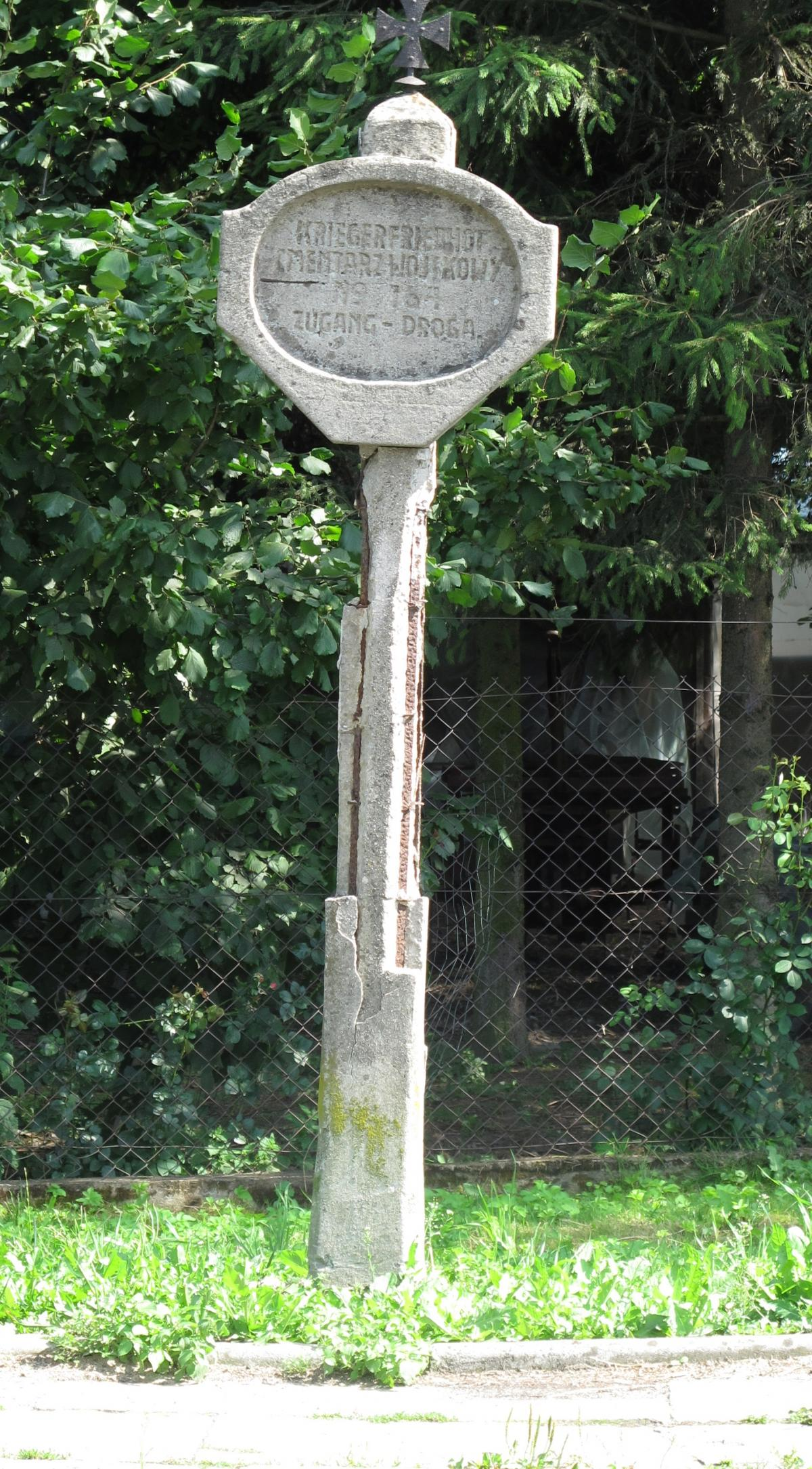 Wikipedia, Bilingual Polish-German signs in Poland, Cemetery signs, Cross pattée, Photographs taken