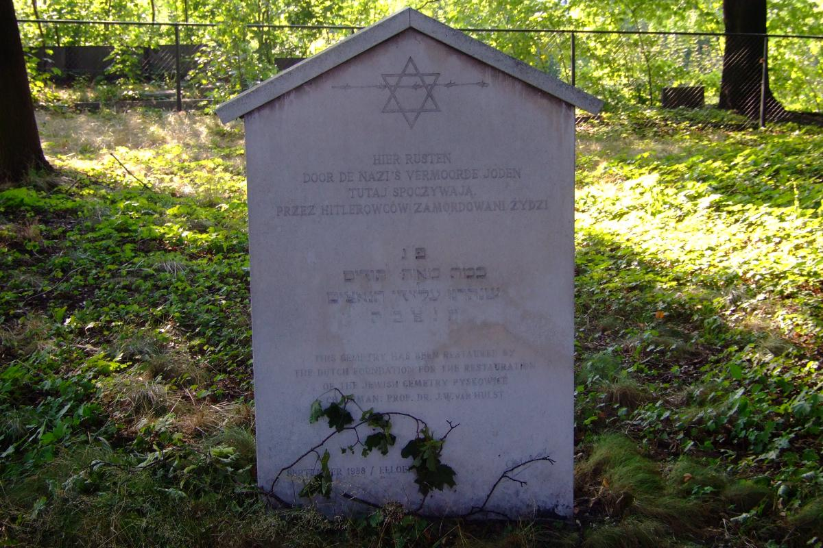 Wikipedia, Jewish cemetery in Pyskowice, Self-published work, Star of David on Jewish gravestones in